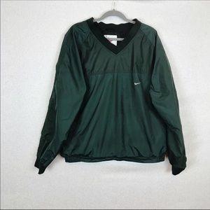 Nike Men Green Pullover Pullover V Neck Jacket